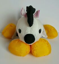 Fisher Price Puffalump Zebra Rattle Plush 1995 Yellow Black Pink