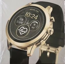 NEW! MICHAEL KORS RUNWAY ACCESS Gold & Black Touchscreen Smartwatch MKT5053 $295