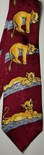Disney's The Lion King Hakuna Matata Simba ~No Worries~ Burgundy Silk Tie Rack