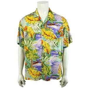 Vintage Jams World pop art swag hawaii shirt hawaiian rayon cocktail