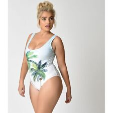Unique Vintage 155276 Mrs. Parker Tropical Palm Tree Swimsuit Size 4XL