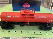 Baker's Chocolate 0-27 Tank Car Road #31058 Industrial Rail by Atlas O NEW