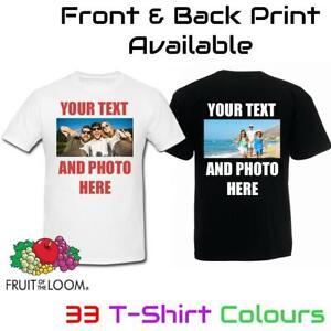 Personalised T Shirt Custom Photo Your Image Text Here Printed Stag do Hen Party