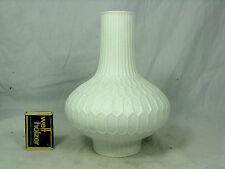 Beautiful 70´s  design Fürstenberg Relief Porzellan Vase 1435 / 19 unglazed