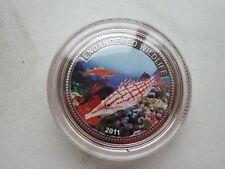 Palau  $1  silver 2011  km 452   25.0000g  proof  hawk fish