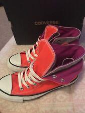 Converse Ct Due Fold Hi ARDENTE Corallo Viola Grigio Lacci Sneaker UK 5