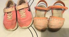 Girls 12.5 Nike Tennis Shoes And 12 Sandals Lot 12Y Combine Shipping!