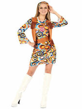 Bristol Novelty Ac407 Flower Power Hippie Girl Costume UK 10 - 14
