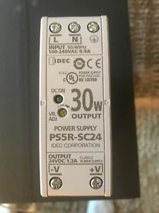 IDEC power supply. New Cat # PS5R-SC24 30W output 24 DC 1.3A 2 avail. $30.each