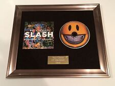 PERSONALLY SIGNED/AUTOGRAPHED SLASH - WORLD ON FIRE FRAMED CD PRESENTATION.
