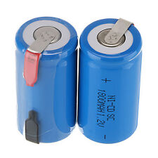 2PC Sub C SC 1.2V 1800mAh Ni-Cd NiCd Rechargeable Battery Batteries Blue Color