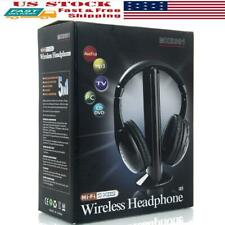 5-in-1 Wireless Headphones Headset FM Radio For MP3 TV CD/DVD PC VCD Player