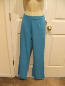 NWT CARABELLA AQUA  PULL ON PANT Leggings MADE IN USA   SIZE MEDIUM