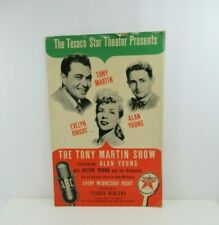 Texaco Star Theatre Sign Cardboard 1947 1948 VTG Tony Martin RARE w Young Knight