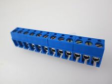 12-Position Wire Connector Terminal Strip, 250 VAC, 5mm Spacing, 50 Pieces