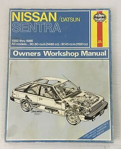 Haynes Owners Workshop Repair Manual Nissan Datsun Sentra 1982-1986