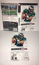 Madden NFL 06 PSP Original Replacement Artwork & Manual