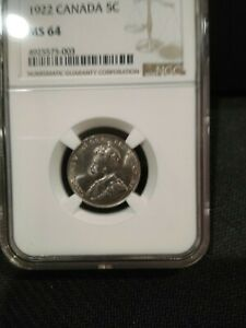 1922 NGC MS64 Canada Five Cents (#4925575-003)