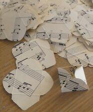 Vintage Recycled Paper 3cm x 3cm Mini Envelopes - Music
