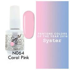 SYSTER 15ml Nail Art Soak Off Color UV Lamp Gel Polish N064 - Carol Pink