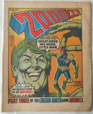 2000AD Prog 77 from August 1978. Jolly Green Giant Banned Comic. Good Condition.