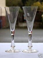 2 Sektgläser Sektglas mit geschliffenem Schaft