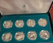 1996 USA ATLANTA OLYMPICS SET OF (8) 90% SILVER PROOF DOLLAR COINS