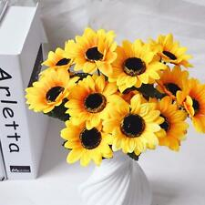 7 heads Artificial Bouquet Fake Sunflower Silk Flower Home Wedding Cafe Decor AU