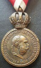 ✚8579✚ Austro-Hungarian WW1 Signum Laudis Military Merit Medal Bronze FRANZ J. I