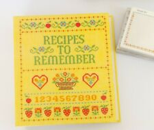 New Vintage Recipes To Remember Album by Hallmark Nib Yellow Cookbook Nwt Cards