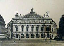 Pierre Lampué Vue Façade de l'Opéra Garnier Paris Héliogravure XIXème