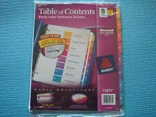 Avery Ready Index Table of Contents Dividers, 8-Tab Set, 3 Sets 11071
