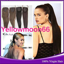 Remy Clip in  Ponytail Pony Tail Real Human Hair Extensions 15-20'' Any Color