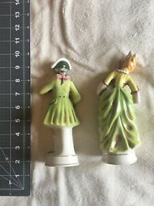 Set of 2 Vintage Made in Occupied Japan Colonial / Victorian Figurines