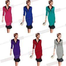Cotton Blend V Neck Short Sleeve Dresses for Women