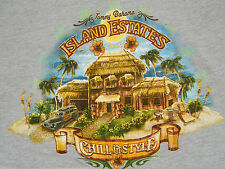 "Tommy Bahama Beer T Shirt Relax Medium M ""Chill in Style"" Island Estates Surf"