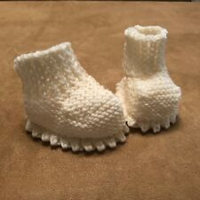 Booties Handmade Baby Crochet Lace White 0-3 months shoes reborn doll shoes