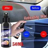 50ml Car Interior Polish Wax Plastic Leather Seat Panel Dashboard Tire Cleaner
