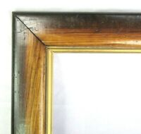 "ANTIQUE FIT 8""x 9.75"" OAK GOLD GILT PRIMITIVE PICTURE FRAME FINE ART VICTORIAN"