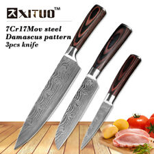 "XITUO 8""5""3.5"" Japanese chef knife set 3 pcs Damascus steel Pattern kitchen"