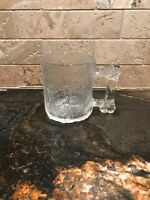 Vintage Classic McDonalds Flintstones Glass Pre Dawn Mug - 1993 Clear Frosted