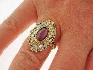 TOP Ring 585 Gold Rubin 1,50 CT 24 Diamanten insg. ca. 1,50 ct Oro 14K ca 5,7 g.