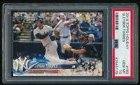 GLEYBER TORRES PSA 10 YANKEES ROOKIE HOLIDAY SNOWFLAKE RC SP 2018 TOPPS UPDATE A