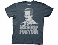 Adult Men's Sitcom Comedy Seinfeld No Soup For You Heather Navy T-Shirt Tee