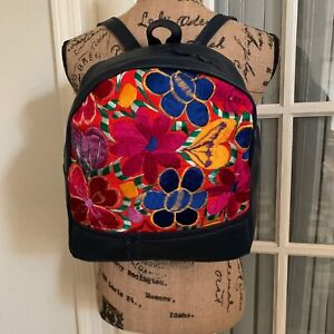 Embroidered Panel Mexican Backpack NEW