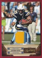 ANTONIO GATES 2011 TIMELESS TREASURES PRIME PATCH #08/25 CHARGERS