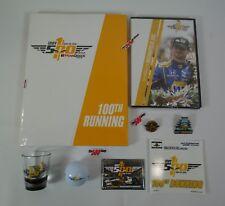 2016 Indy 500 Program DVD Event Pins Decal Magnet Shot Glass Golf Ball Fan Pack