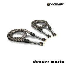 ViaBlue 2x 3,00m SC-6 Air Silver Single-Wire Lautsprecherkabel/High End Referenz