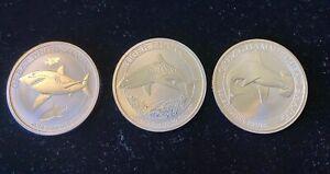 2016 UNC Australia Shark Series Silver Round Perth Mint 1/2ozt .999 Fine Silver