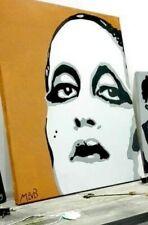 Quadro pop art Acrilico 50x70, dipinto a mano, Mina